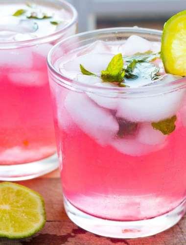 Skinny Raspberry Lemonade Mojitos Recipe