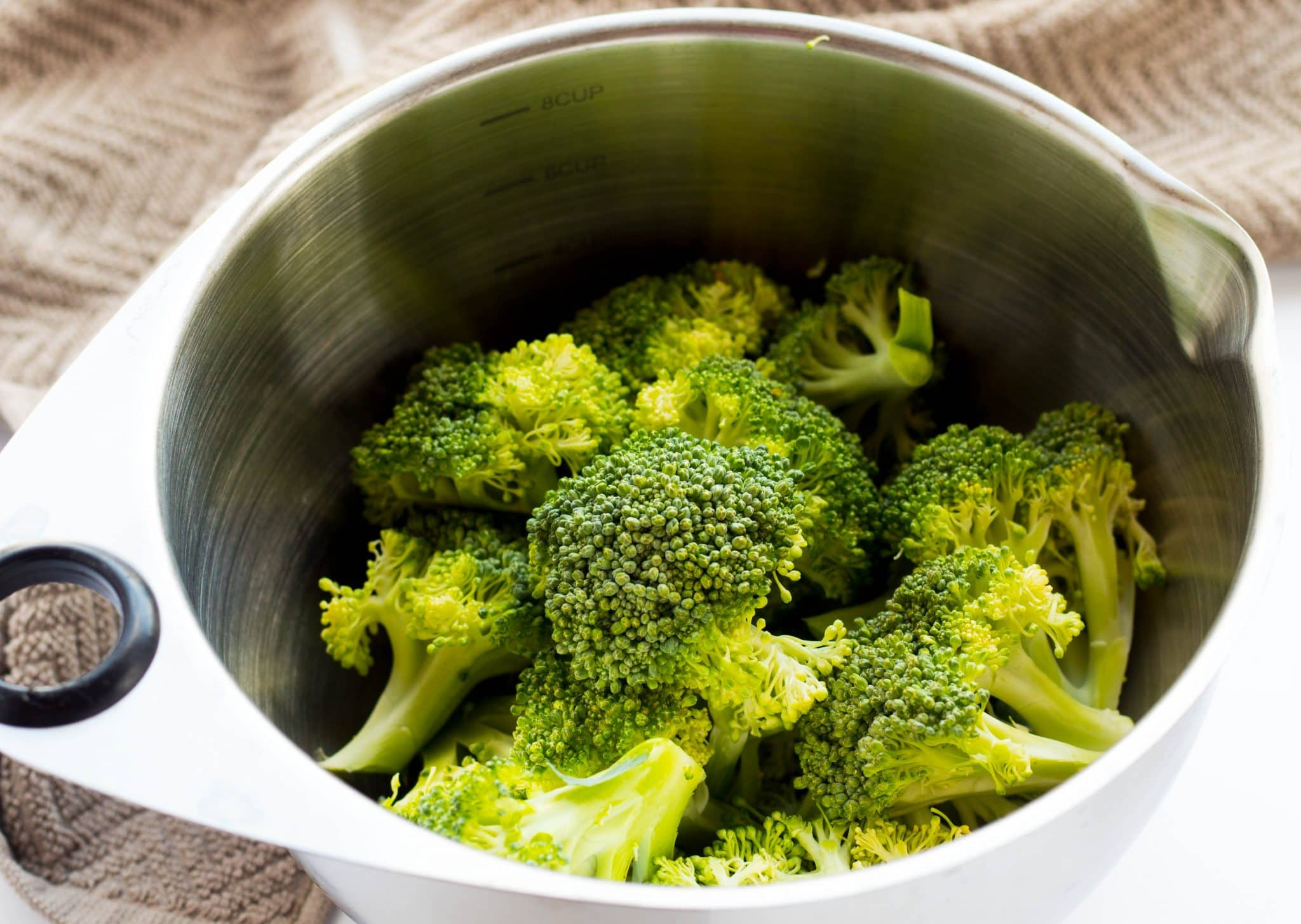 Fresh broccoli florets 4 cups = 247 calories