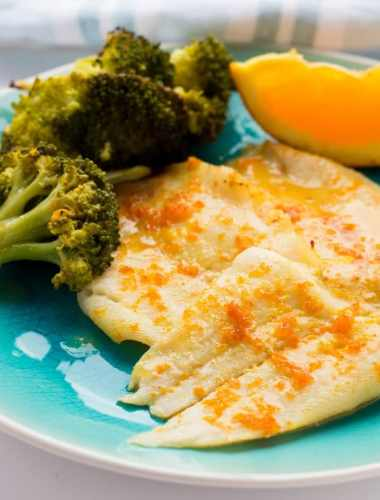 Spicy Orange Flounder Sheet Pan Dinner