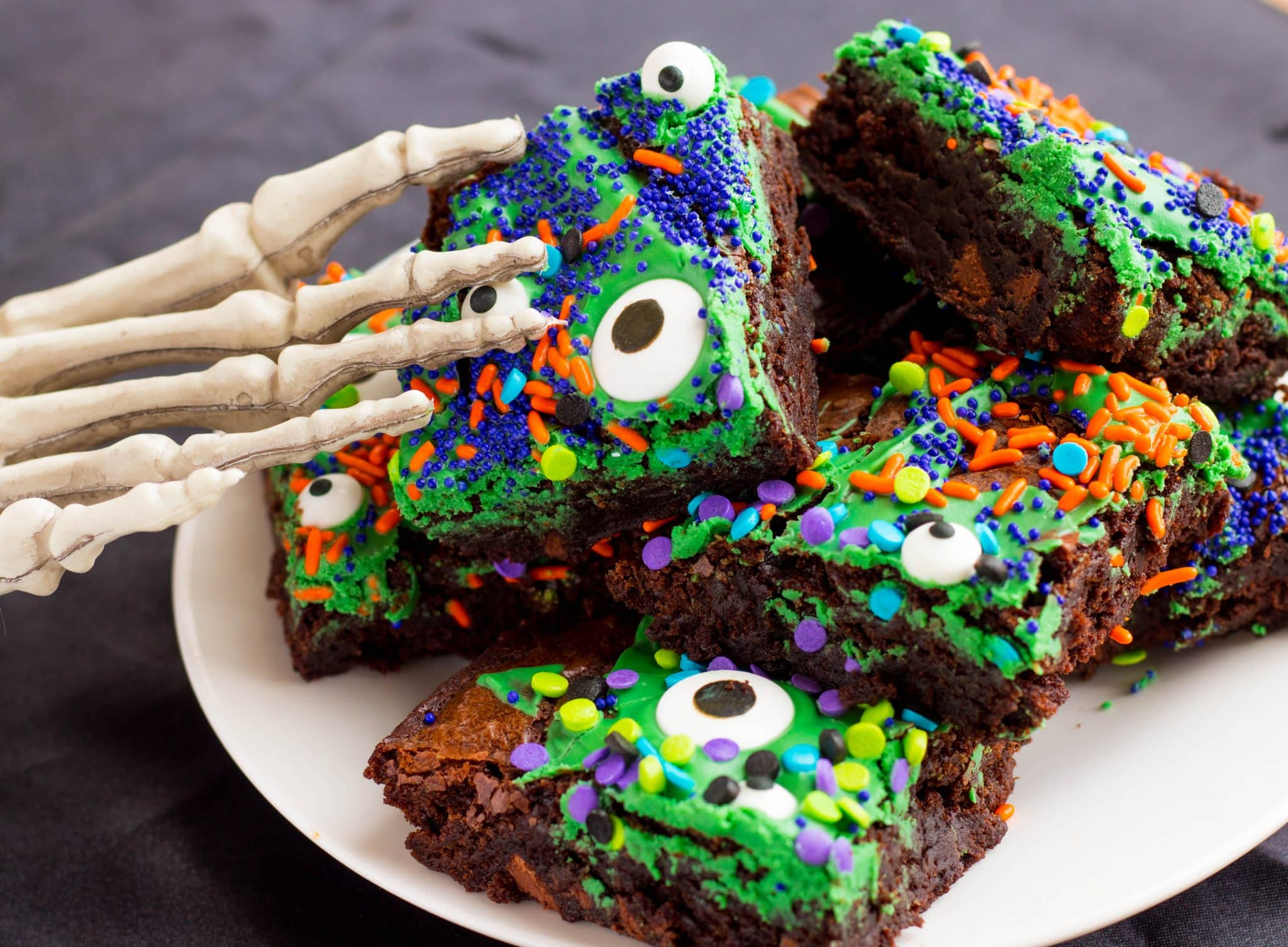 The Best Halloween Monster Mash Brownies