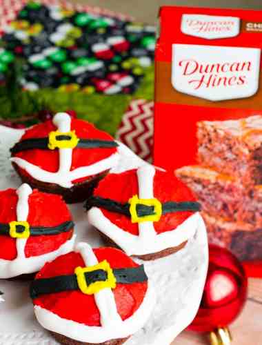 Best Santa Belly Brownies
