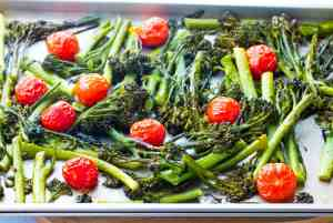 Roasted Broccolini with Cherry Tomatoes