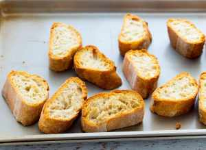 How to toast baguette bread