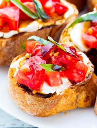Bruschetta with Cream Cheese
