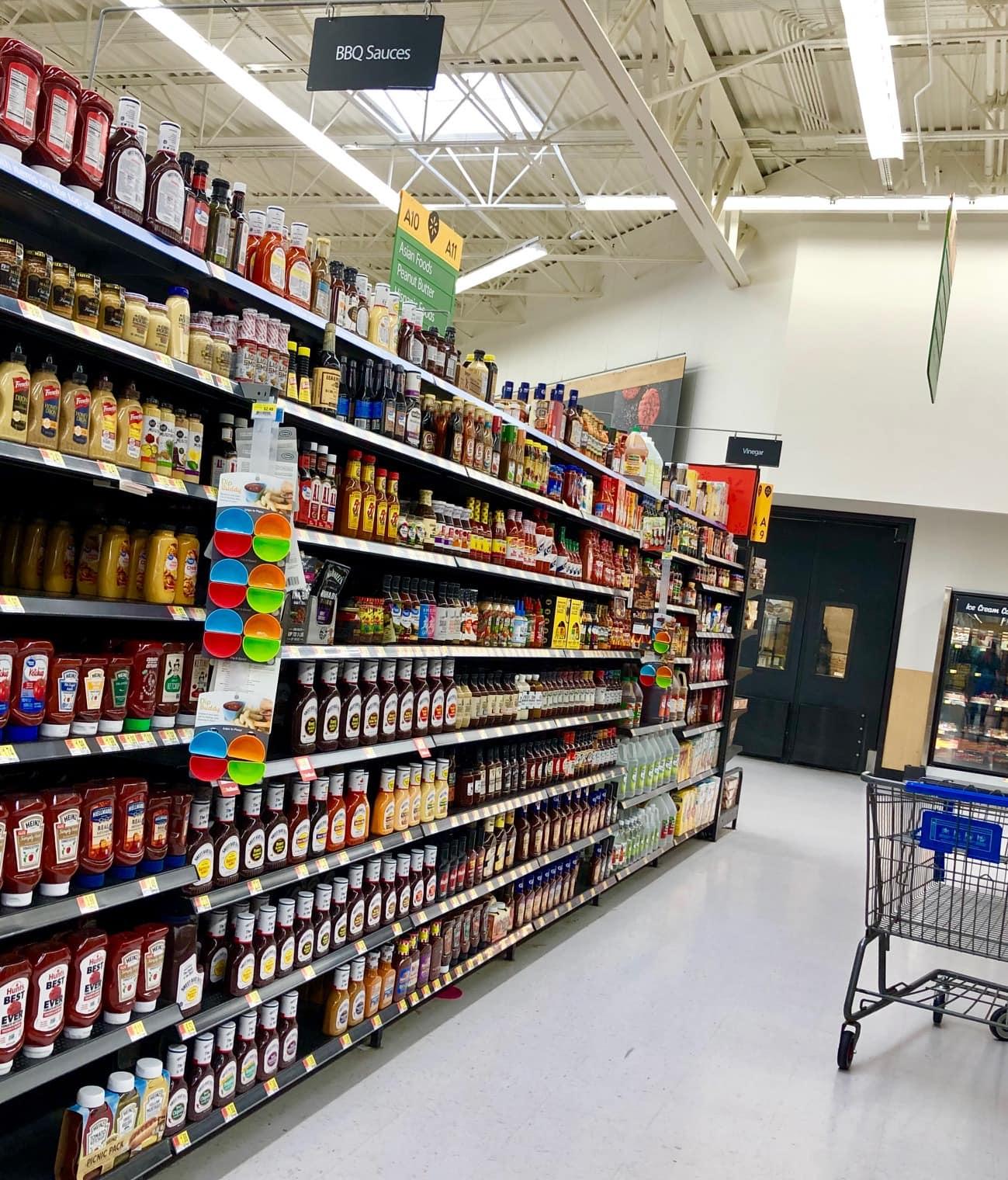 Walmart BBQ Sauce Aisle