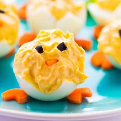 How to Make Easter Deviled Eggs Peeps Easily