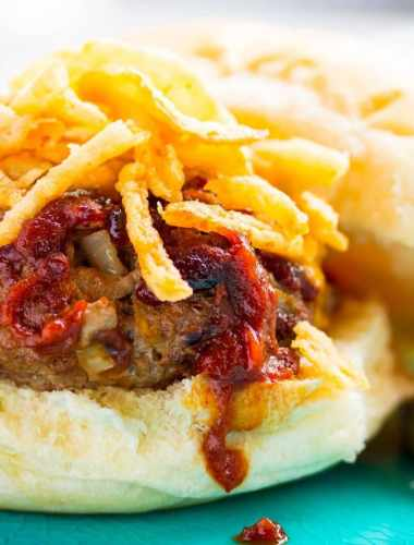 Hickory Onion BBQ Burger Recipe