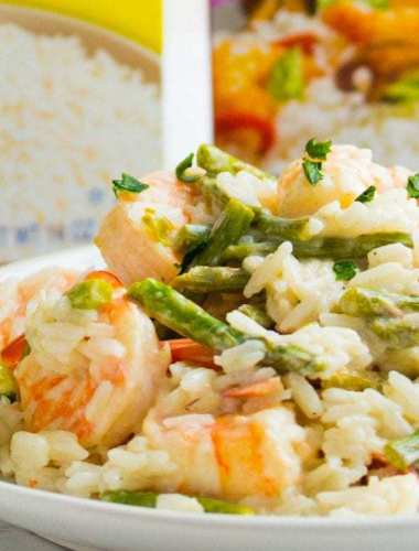 Lime Shrimp Coconut Rice