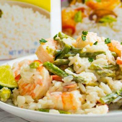 Lime Shrimp Coconut Rice-6 Ingredients