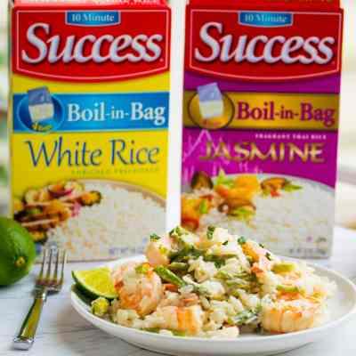 Lime Shrimp Coconut Rice-6 Ingredients