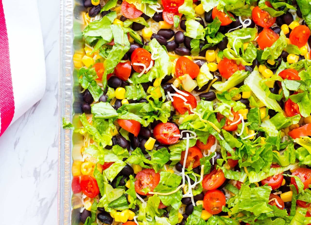 Black Bean Layered Taco Dip