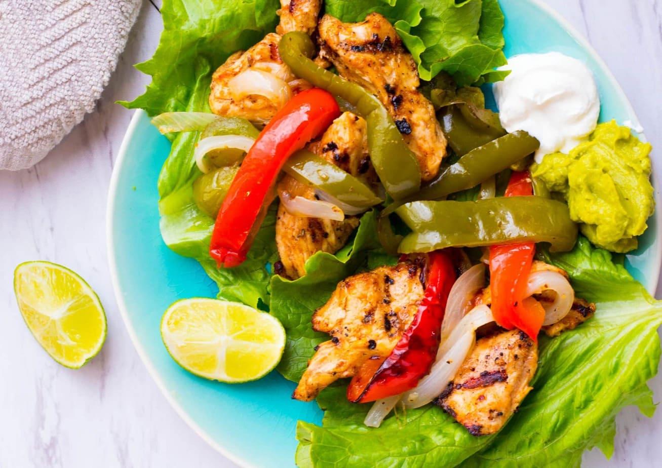 Grilled Chicken Fajita Lettuce Wraps
