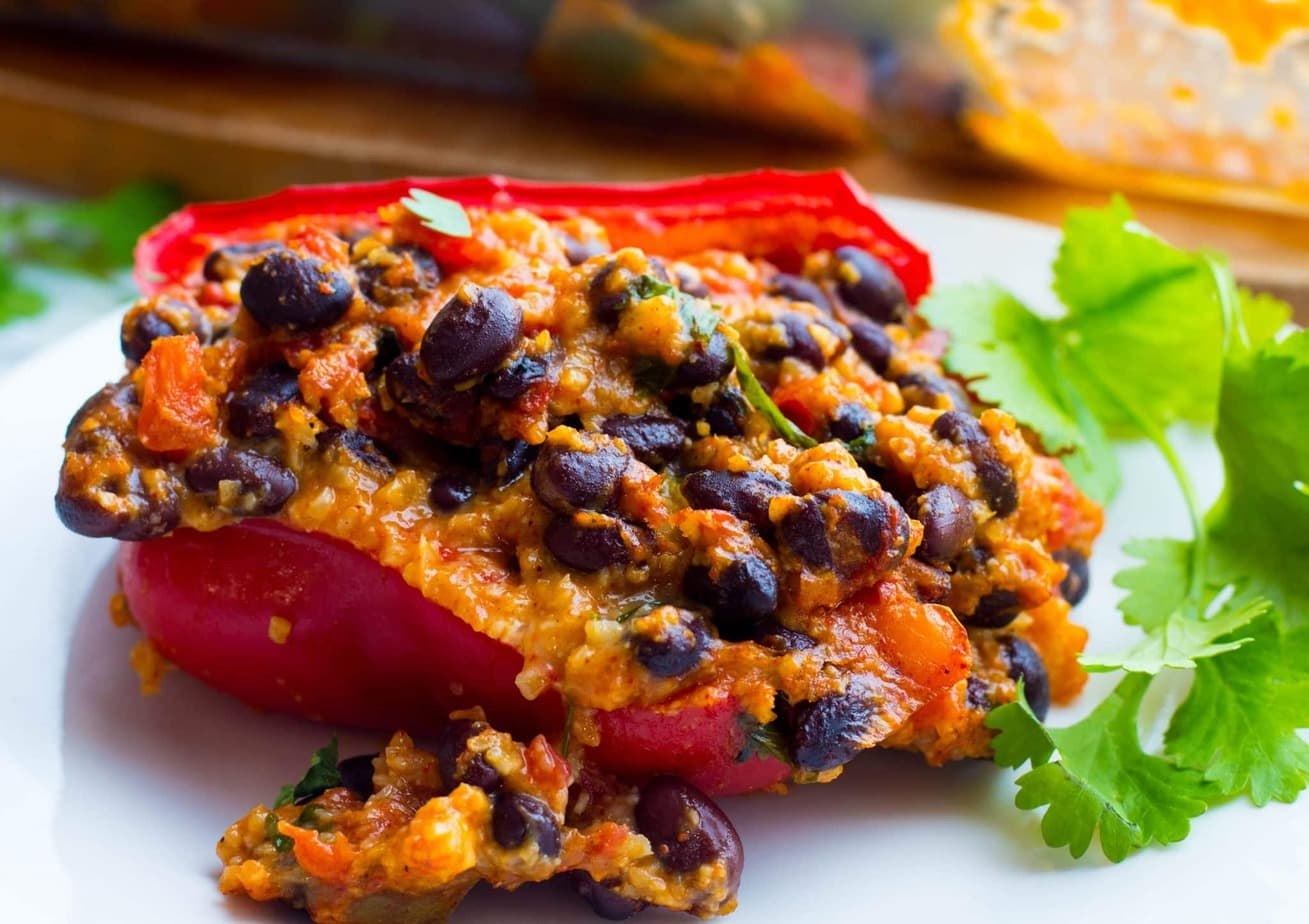 Mexican Black Bean Stuffed Peppers