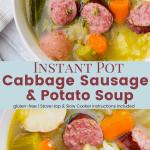 Instant Pot Cabbage Sausage Potato Soup
