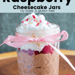 Nutella Raspberry Cheesecake Jars