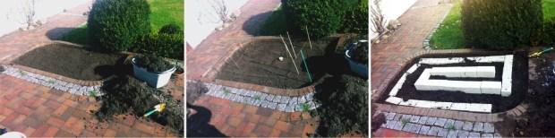 Fundament vorbereiten, Abstecken und aufbauen