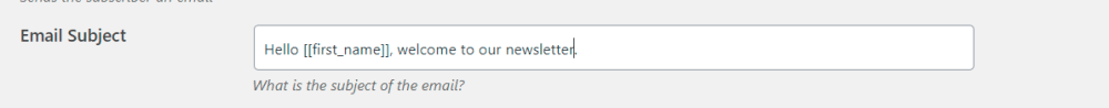 set email subject