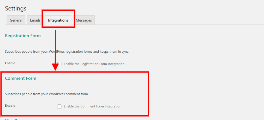 scroll to comment form integration