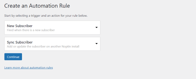 sync subscribers automation rule