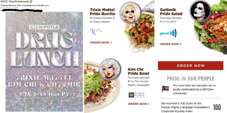 Woke Chipotle Pushes Drag Queen Burritos to Gather Donations for Cultural Marxist Groups
