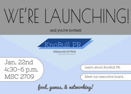 Invite for KnoBull PR Launch Party