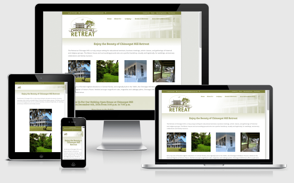 Responsive Website for a Conference and Retreat Center