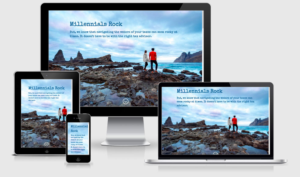 Millennials Rock Lead Page Website