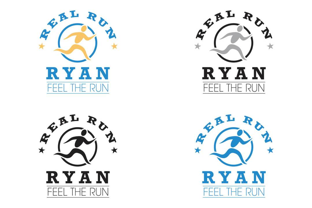 Real Run Ryan Logo Design Atlanta