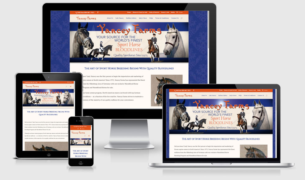 Yancey Farms Responsive Website