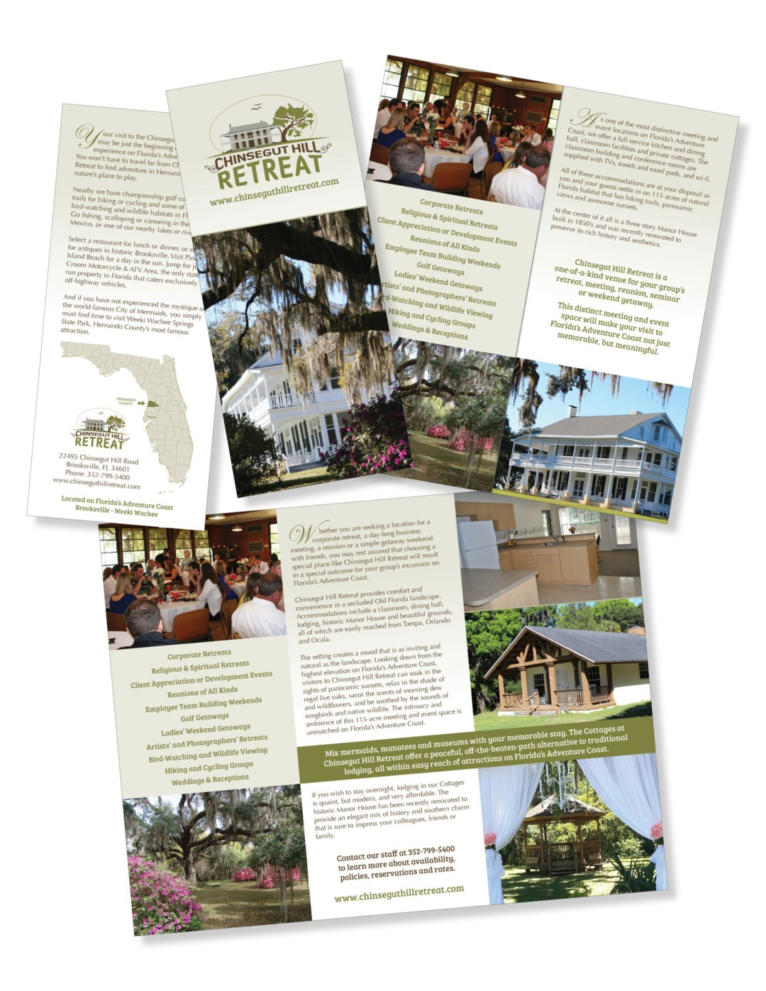 Chinsegut Hill Retreat Brochure Design
