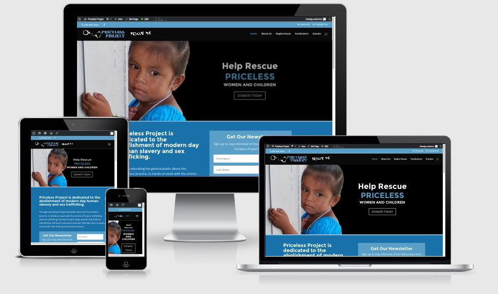 Website Design & Development for a Non-Profit Organization Fighting Human Sex Trafficking