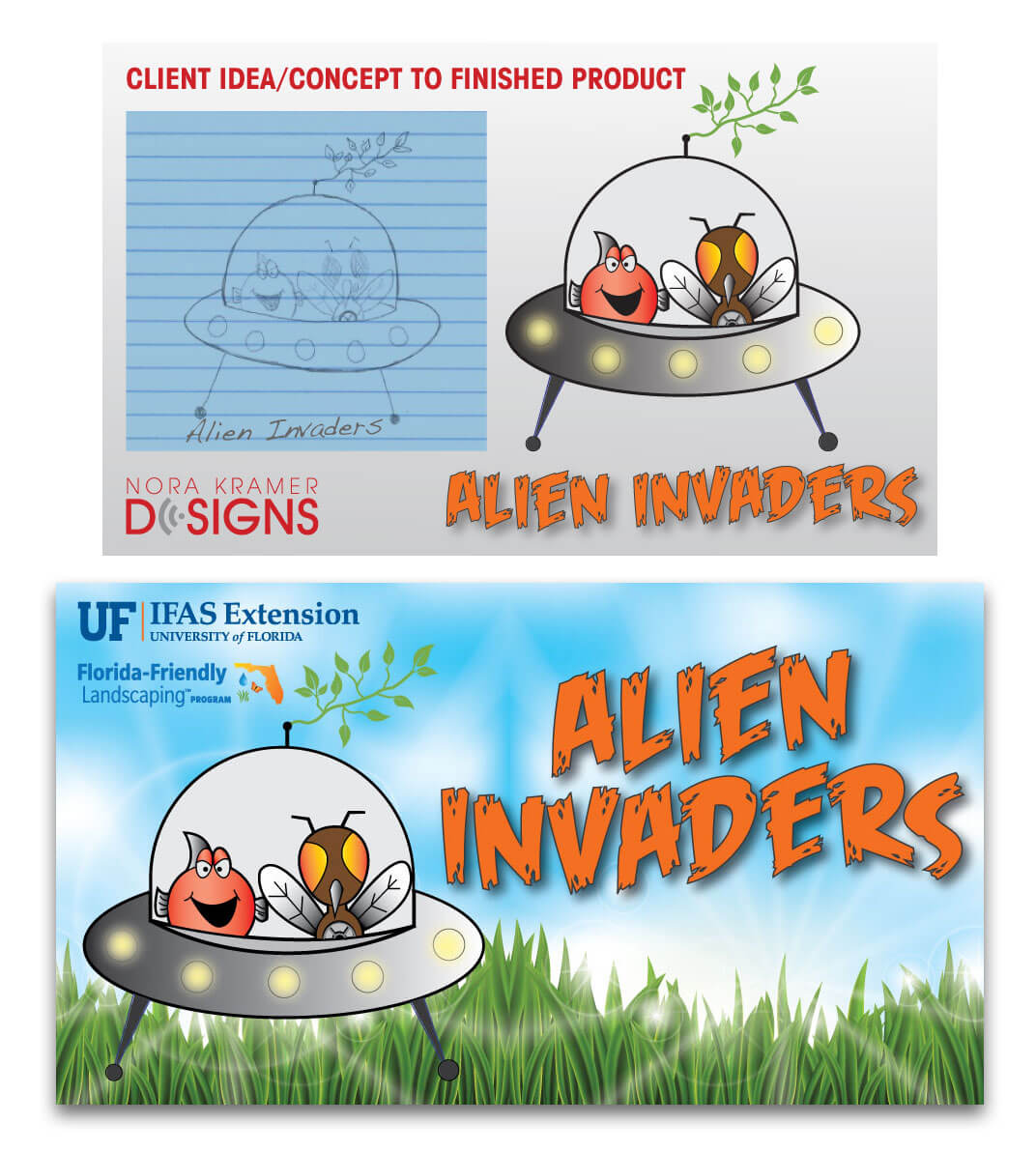 Hernando County Alien Invaders Logo