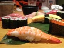 Sweet shrimp, ikura and more (Midori Sushi)