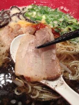 Piece of roast pork from a bowl of Ippudo ramen