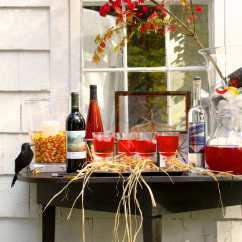 Small Outdoor Patio Table And Chairs Lafuma Chair Laces Create A Halloween Wine & Spirits Lounge   Nora Murphy Country House