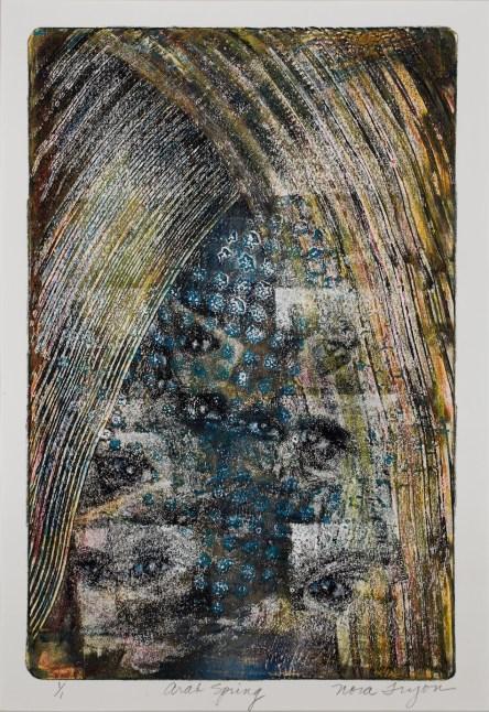 Arab Spring; monoprint, 20x16, photo by Gary Lowell