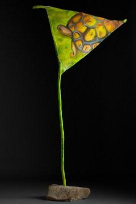 Longevity, acrylic on canvas and wood, 72x36x19, photo by Gary Lowell