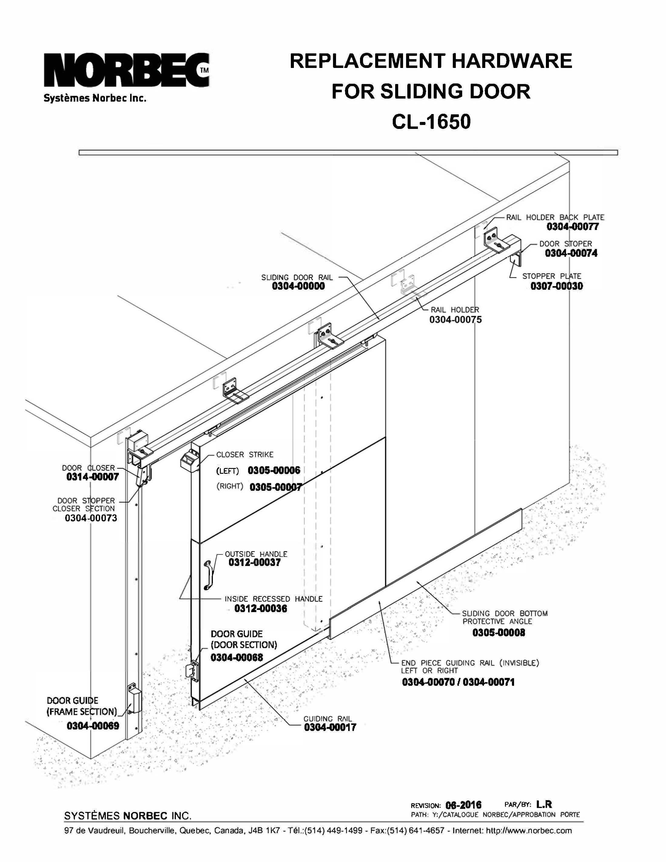 Parts Sliding Door Cl