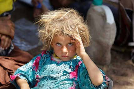Yazidi Girl Rests