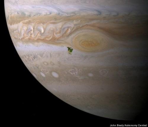 Jupiter and North America