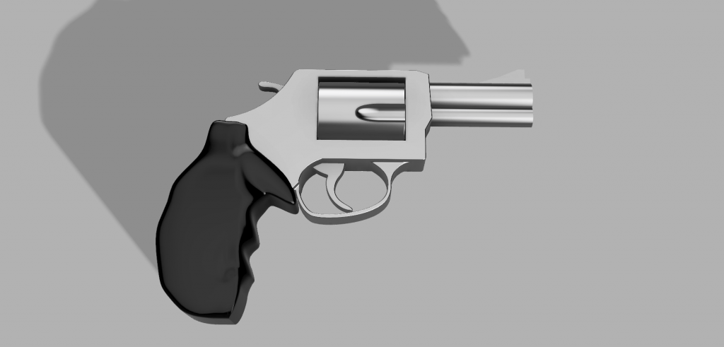 Fusion360 Revolver SW render