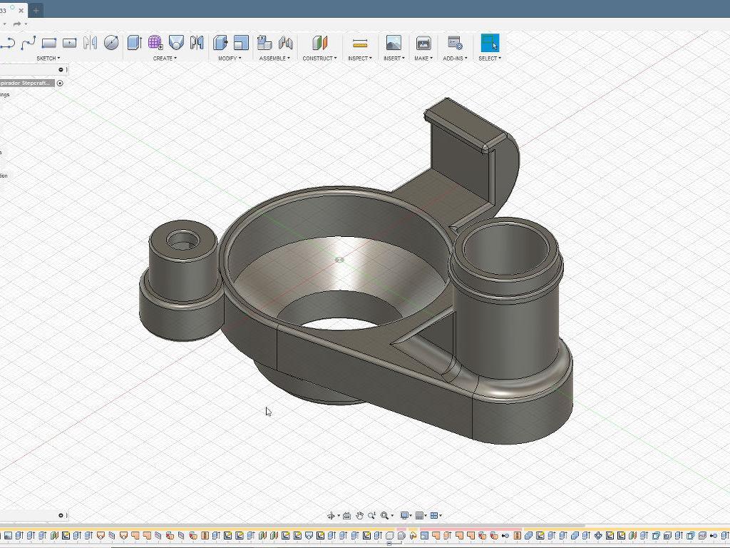 soporte aspirador stepcraft Fusion 360