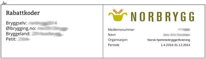 Medlemskort Norbrygg