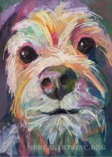 "Sandy Lindblad, ""Wistful Dottie"", pastel"