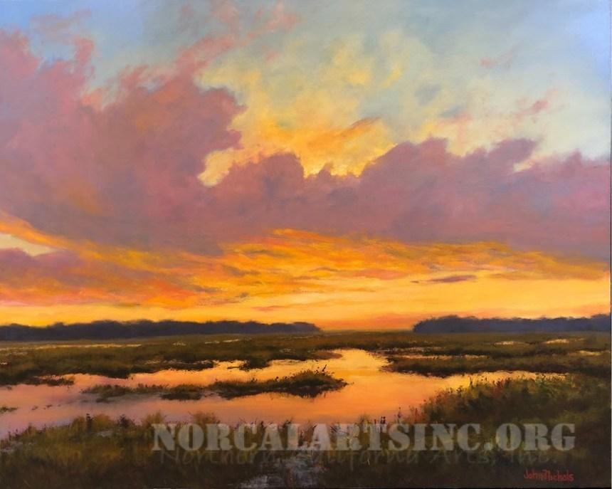 Yolo Reflections painting by John Nichols