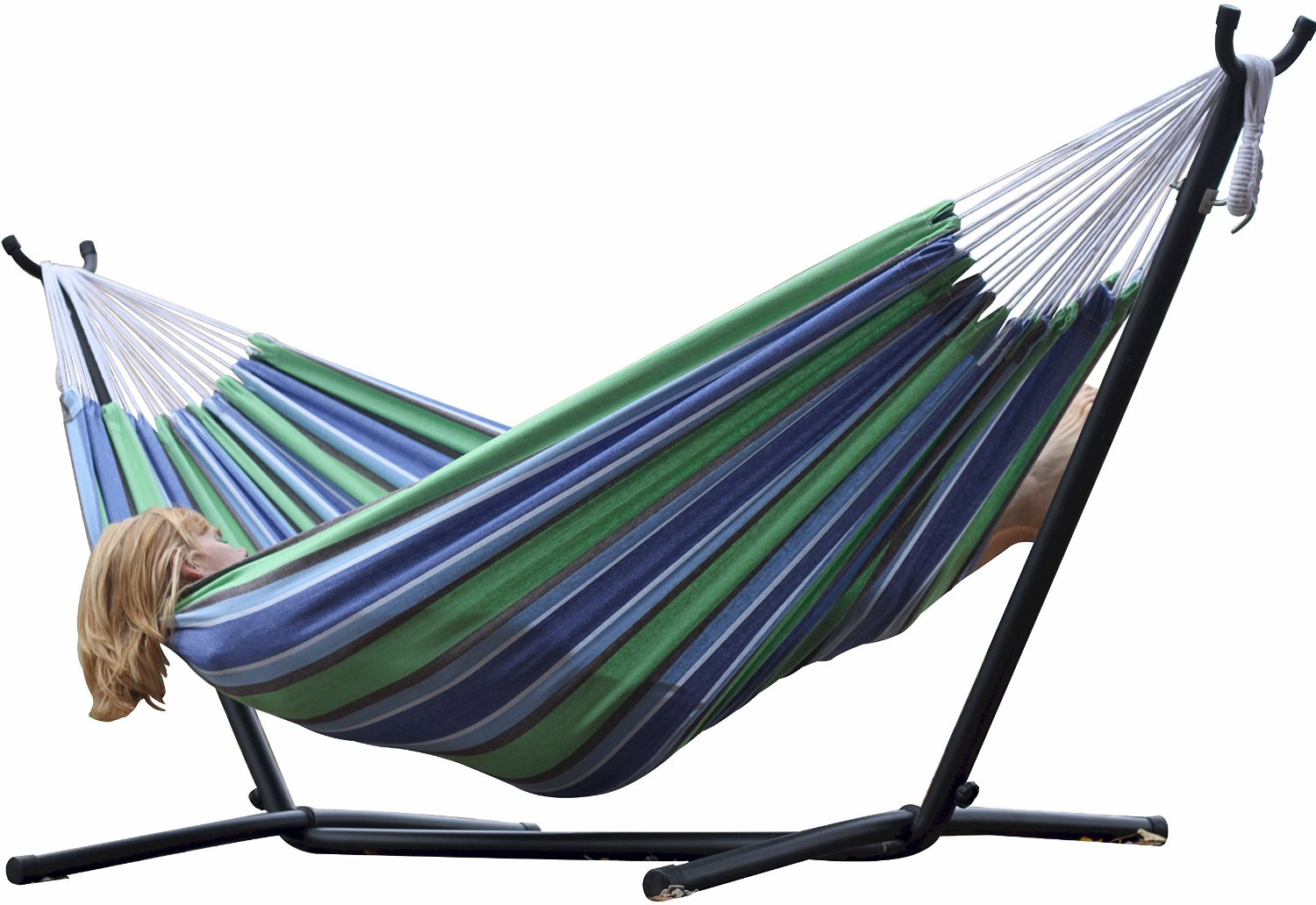 Vivere Double Hammock With Steel Stand Just 94 49 Reg