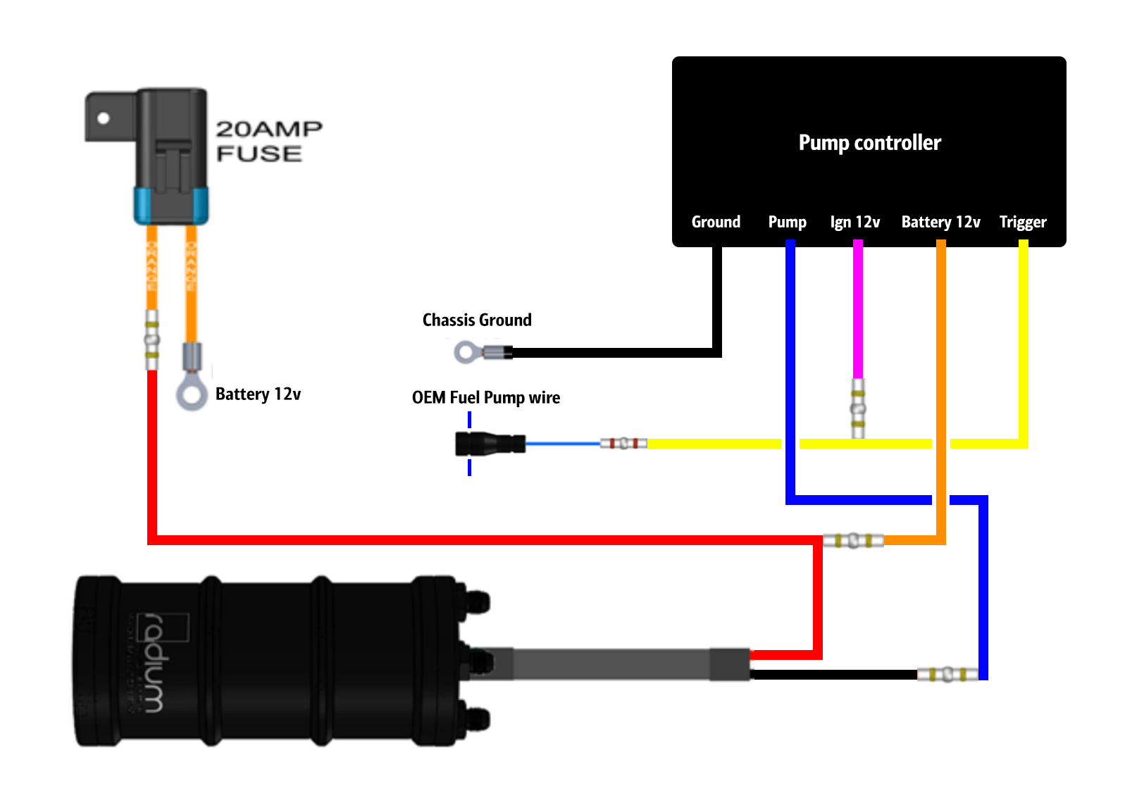 hight resolution of here is how i wired the fuel pump controller and radium surge tank you will