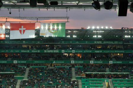 Nachthimmel über dem Stadion