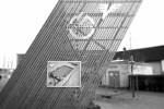 Symbol des SV Horn beim Eingang der Waldviertler Volksbank Arena