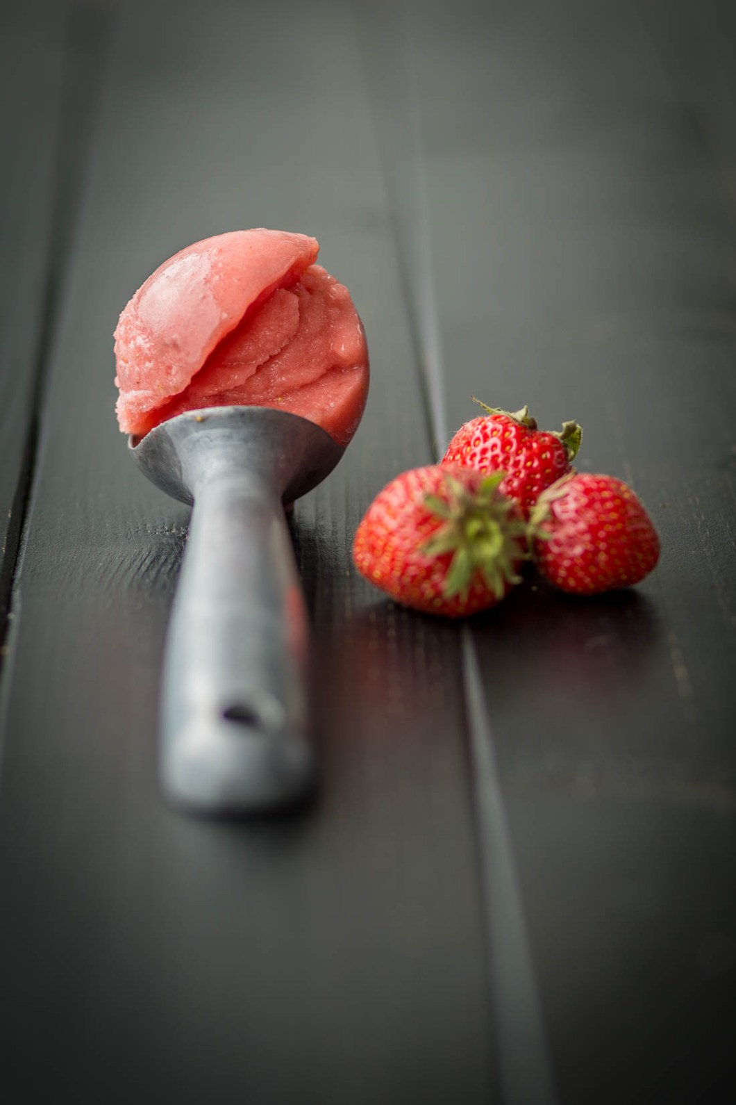 Creamy Sorbet with Strawberries and Watermelon | Cremiges Sorbet mit Erdbeeren und Wassermelone